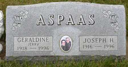 ASPAAS, JOSEPH H. - Minnehaha County, South Dakota | JOSEPH H. ASPAAS - South Dakota Gravestone Photos