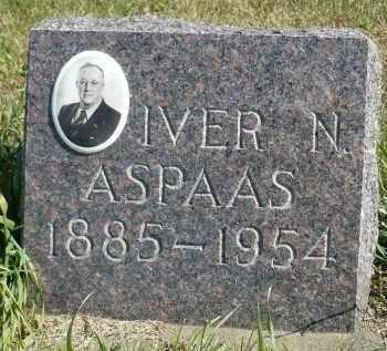 ASPAAS, IVER N. - Minnehaha County, South Dakota   IVER N. ASPAAS - South Dakota Gravestone Photos
