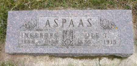 ASPAAS, INGEBORG - Minnehaha County, South Dakota | INGEBORG ASPAAS - South Dakota Gravestone Photos