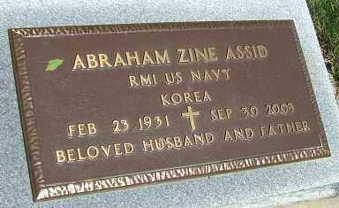 ASSID, ABRAHAM ZINE (KOREA) - Minnehaha County, South Dakota   ABRAHAM ZINE (KOREA) ASSID - South Dakota Gravestone Photos