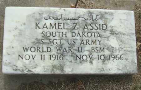 ASSID, KAMEL Z. - Minnehaha County, South Dakota | KAMEL Z. ASSID - South Dakota Gravestone Photos