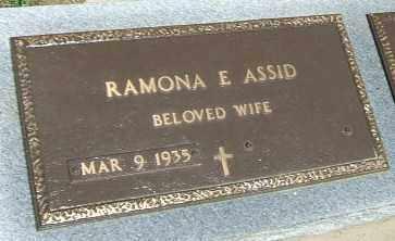 ASSID, RAMONA E. - Minnehaha County, South Dakota | RAMONA E. ASSID - South Dakota Gravestone Photos
