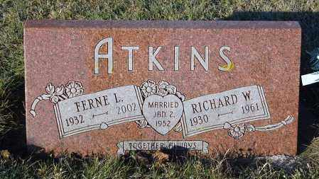 ATKINS, RICHARD W. - Minnehaha County, South Dakota | RICHARD W. ATKINS - South Dakota Gravestone Photos