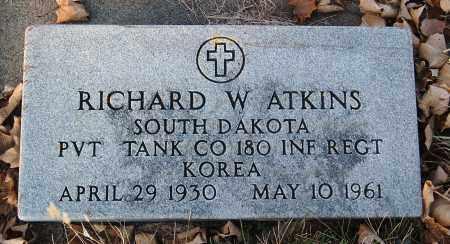 ATKINS, RICHARD W. (MILITARY) - Minnehaha County, South Dakota | RICHARD W. (MILITARY) ATKINS - South Dakota Gravestone Photos