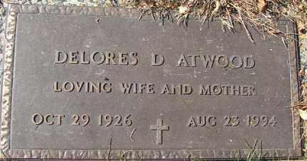ATWOOD, DELORES D. - Minnehaha County, South Dakota | DELORES D. ATWOOD - South Dakota Gravestone Photos