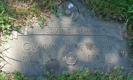 ATWOOD, GLADYS I. - Minnehaha County, South Dakota | GLADYS I. ATWOOD - South Dakota Gravestone Photos