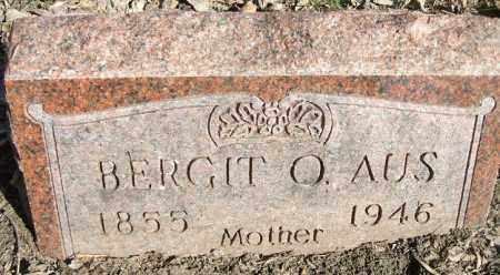 AUS, BERGIT O. - Minnehaha County, South Dakota | BERGIT O. AUS - South Dakota Gravestone Photos