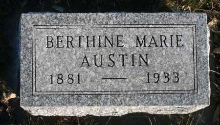 AUSTIN, BERTHINE MARIE - Minnehaha County, South Dakota | BERTHINE MARIE AUSTIN - South Dakota Gravestone Photos