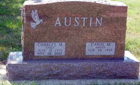 AUSTIN, CHARLES M. - Minnehaha County, South Dakota | CHARLES M. AUSTIN - South Dakota Gravestone Photos