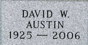 AUSTIN, DAVID W. - Minnehaha County, South Dakota | DAVID W. AUSTIN - South Dakota Gravestone Photos