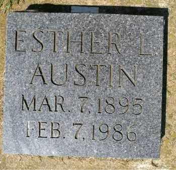 AUSTIN, ESTHER L. - Minnehaha County, South Dakota | ESTHER L. AUSTIN - South Dakota Gravestone Photos
