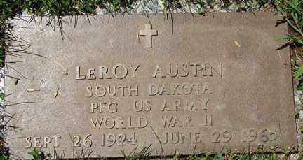 AUSTIN, LEROY - Minnehaha County, South Dakota | LEROY AUSTIN - South Dakota Gravestone Photos