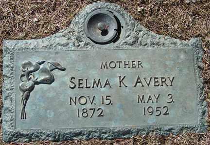 AVERY, SELMA K. - Minnehaha County, South Dakota   SELMA K. AVERY - South Dakota Gravestone Photos