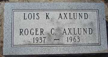 AXLUND, LOIS K. - Minnehaha County, South Dakota | LOIS K. AXLUND - South Dakota Gravestone Photos