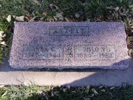 AXTELL, MILO W. - Minnehaha County, South Dakota | MILO W. AXTELL - South Dakota Gravestone Photos