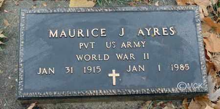 AYRES, MAURICE J. - Minnehaha County, South Dakota | MAURICE J. AYRES - South Dakota Gravestone Photos