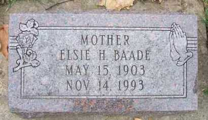 BAADE, ELSIE H. - Minnehaha County, South Dakota | ELSIE H. BAADE - South Dakota Gravestone Photos