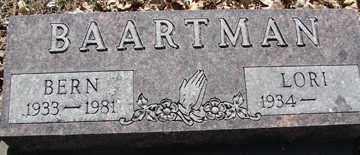 BAARTMAN, BERN - Minnehaha County, South Dakota | BERN BAARTMAN - South Dakota Gravestone Photos