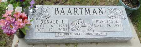 BAARTMAN, PHYLLIS E. - Minnehaha County, South Dakota | PHYLLIS E. BAARTMAN - South Dakota Gravestone Photos