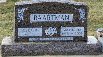 BAARTMAN, MATHILDA - Minnehaha County, South Dakota | MATHILDA BAARTMAN - South Dakota Gravestone Photos