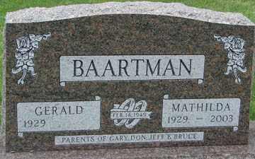 BAARTMAN, GERALD - Minnehaha County, South Dakota   GERALD BAARTMAN - South Dakota Gravestone Photos