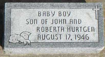 BABY BOY, HURTGEN - Minnehaha County, South Dakota   HURTGEN BABY BOY - South Dakota Gravestone Photos