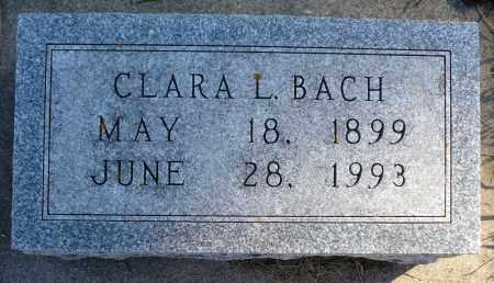 BACH, CLARA L. - Minnehaha County, South Dakota   CLARA L. BACH - South Dakota Gravestone Photos