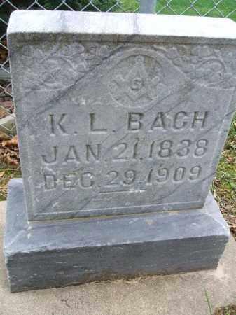 BACH, KILIAN L. - Minnehaha County, South Dakota   KILIAN L. BACH - South Dakota Gravestone Photos