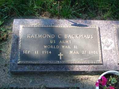 BACKHAUS, RAYMOND  C. - Minnehaha County, South Dakota | RAYMOND  C. BACKHAUS - South Dakota Gravestone Photos