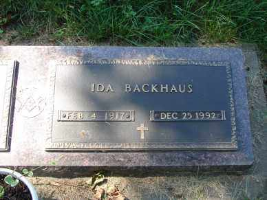 BACKHAUS, IDA - Minnehaha County, South Dakota | IDA BACKHAUS - South Dakota Gravestone Photos