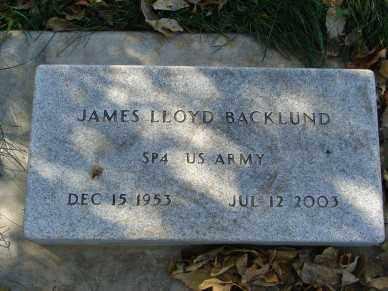 BACKLUND, JAMES LLOYD - Minnehaha County, South Dakota | JAMES LLOYD BACKLUND - South Dakota Gravestone Photos