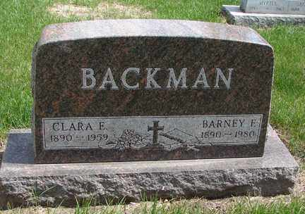 BACKMAN, BARNEY F. - Minnehaha County, South Dakota | BARNEY F. BACKMAN - South Dakota Gravestone Photos