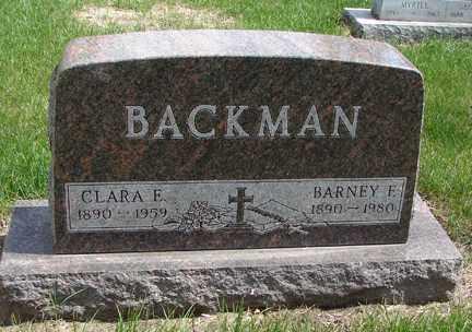 BACKMAN, CLARA E. - Minnehaha County, South Dakota | CLARA E. BACKMAN - South Dakota Gravestone Photos