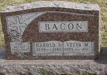 BACON, HAROLD D. - Minnehaha County, South Dakota   HAROLD D. BACON - South Dakota Gravestone Photos