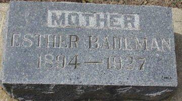 BADEMAN, ESTHER - Minnehaha County, South Dakota   ESTHER BADEMAN - South Dakota Gravestone Photos