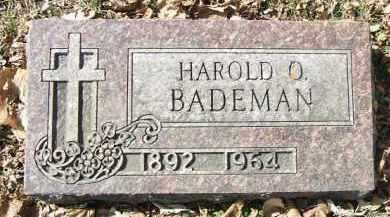 BADEMAN, HAROLD O. - Minnehaha County, South Dakota | HAROLD O. BADEMAN - South Dakota Gravestone Photos