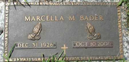 BADER, MARCELLA M. - Minnehaha County, South Dakota | MARCELLA M. BADER - South Dakota Gravestone Photos