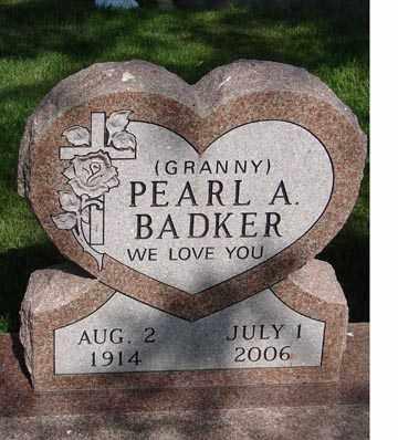 BADKER, PEARL ANN AUGUSTA - Minnehaha County, South Dakota | PEARL ANN AUGUSTA BADKER - South Dakota Gravestone Photos