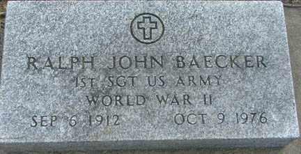 BAECKER, RALPH JOHN - Minnehaha County, South Dakota | RALPH JOHN BAECKER - South Dakota Gravestone Photos