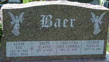 BAER, EDITH ELAINE - Minnehaha County, South Dakota | EDITH ELAINE BAER - South Dakota Gravestone Photos