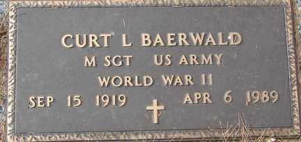 BAERWALD, CURT L. (WWII) - Minnehaha County, South Dakota | CURT L. (WWII) BAERWALD - South Dakota Gravestone Photos