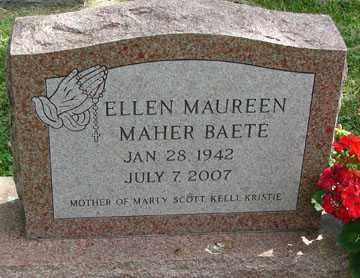 BAETE, ELLEN MAUREEN - Minnehaha County, South Dakota | ELLEN MAUREEN BAETE - South Dakota Gravestone Photos
