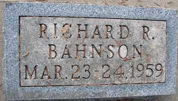 BAHNSON, RICHARD R. - Minnehaha County, South Dakota | RICHARD R. BAHNSON - South Dakota Gravestone Photos