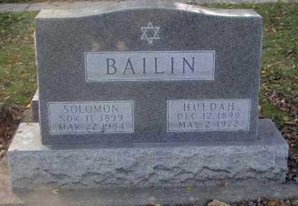 BAILIN, HULDAH - Minnehaha County, South Dakota | HULDAH BAILIN - South Dakota Gravestone Photos