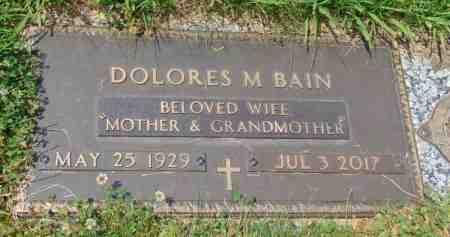 BAIN, DOLORES M. - Minnehaha County, South Dakota | DOLORES M. BAIN - South Dakota Gravestone Photos