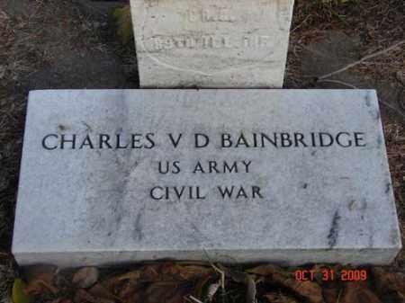 BAINBRIDGE, CHARLES V.D. - Minnehaha County, South Dakota   CHARLES V.D. BAINBRIDGE - South Dakota Gravestone Photos