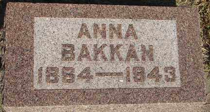 BAKKAN, ANNA - Minnehaha County, South Dakota | ANNA BAKKAN - South Dakota Gravestone Photos