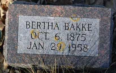 BAKKE, BERTHA - Minnehaha County, South Dakota | BERTHA BAKKE - South Dakota Gravestone Photos