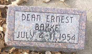 BAKKE, DEAN ERNEST - Minnehaha County, South Dakota | DEAN ERNEST BAKKE - South Dakota Gravestone Photos