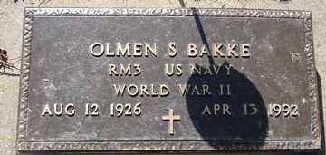 BAKKE, OLMEN S. - Minnehaha County, South Dakota | OLMEN S. BAKKE - South Dakota Gravestone Photos